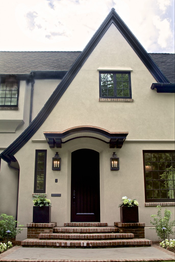 Tudor revival home cella architecture residential - Painting a stucco house exterior ...