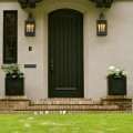 Laurelhurst House reeded front door - Cella Architecture Residential Architect, Portland Oregon